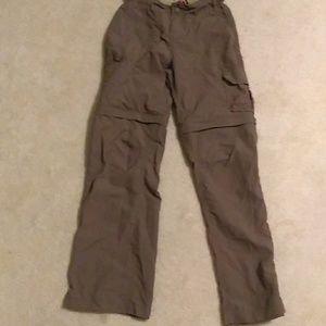 REI convertible hiking pants olive/khaki
